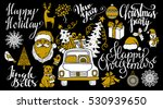 christmas and new year hand... | Shutterstock .eps vector #530939650