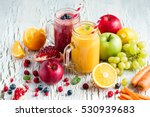 berry and vegetables  smoothie  ... | Shutterstock . vector #530939683
