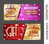 gift voucher template. can be... | Shutterstock .eps vector #530946754