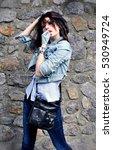 stylish girl | Shutterstock . vector #530949724