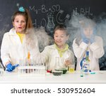 three excited funny children... | Shutterstock . vector #530952604