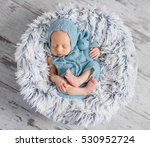 lovely infant in hat and... | Shutterstock . vector #530952724