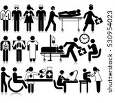 medical staff icon set | Shutterstock .eps vector #530954023