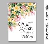 wedding invitation floral... | Shutterstock .eps vector #530956009