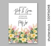 wedding invitation floral... | Shutterstock .eps vector #530956048