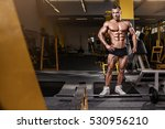 strong athletic man fitness... | Shutterstock . vector #530956210