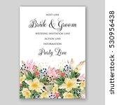 wedding invitation floral...   Shutterstock .eps vector #530956438
