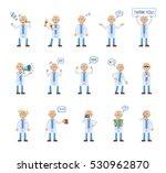 big set of old professor... | Shutterstock .eps vector #530962870