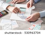 ux designer designing designers ... | Shutterstock . vector #530963704