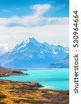 Lake Pukaki And Mt. Cook As A...
