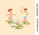 illustration of kids playing... | Shutterstock . vector #530964730