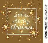 premium luxury merry christmas... | Shutterstock .eps vector #530965819