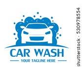 car wash logo design template | Shutterstock .eps vector #530978554