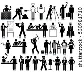 occupations icon set | Shutterstock .eps vector #530981710