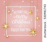 luxury elegant merry christmas... | Shutterstock .eps vector #530981743