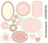 romantic vector tag or label... | Shutterstock .eps vector #53098930