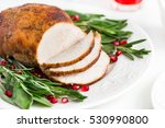 roasted  turkey breast with... | Shutterstock . vector #530990800