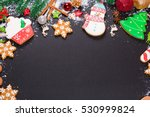 christmas cookies with candy ... | Shutterstock . vector #530999824