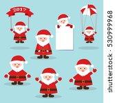 funny santa.cute santa claus... | Shutterstock .eps vector #530999968