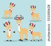 christmas reindeer in flat... | Shutterstock .eps vector #531000628