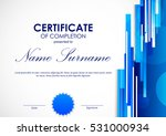 certificate of completion... | Shutterstock .eps vector #531000934