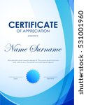 certificate of appreciation... | Shutterstock .eps vector #531001960