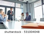 mature businessman discussing... | Shutterstock . vector #531004048