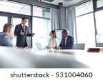 mature businessman discussing... | Shutterstock . vector #531004060