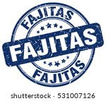 fajitas. stamp. blue round... | Shutterstock .eps vector #531007126