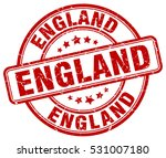 england. stamp. red round... | Shutterstock .eps vector #531007180