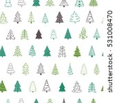 vector fir tree seamless... | Shutterstock .eps vector #531008470