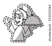isolated male chef cartoon... | Shutterstock .eps vector #531010264