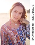 beautiful brazilian girl on... | Shutterstock . vector #531010678