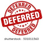 deferred. stamp. red round... | Shutterstock .eps vector #531011563