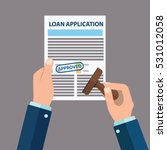 approved loan application with... | Shutterstock .eps vector #531012058