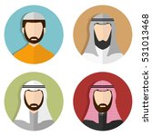 middle eastern arabic men ... | Shutterstock .eps vector #531013468