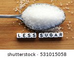 less sugar text from tiled... | Shutterstock . vector #531015058