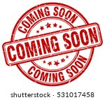 coming soon. stamp. red round... | Shutterstock .eps vector #531017458