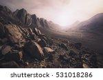 Parched  Rocky Desert Landscap...