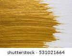 Gold Acrylic Paint Texture On...