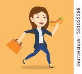 smiling business woman in a... | Shutterstock .eps vector #531025288