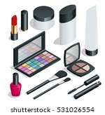 make up. hand drawn cosmetics... | Shutterstock .eps vector #531026554