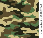 camouflage pattern background.... | Shutterstock .eps vector #531027364