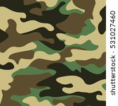 camouflage pattern background.... | Shutterstock .eps vector #531027460