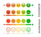 feedback emoticon bar. emoji.... | Shutterstock . vector #531028318