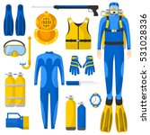 diving equipment or elements... | Shutterstock .eps vector #531028336