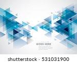 vector of modern geometric... | Shutterstock .eps vector #531031900