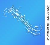 music notes design | Shutterstock .eps vector #531034204