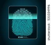 fingerprint scanning   digital...   Shutterstock .eps vector #531034996