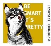 vector portrait of siberian... | Shutterstock .eps vector #531035284